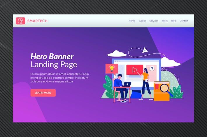 Thumbnail for Smartech - Hero Banner Template