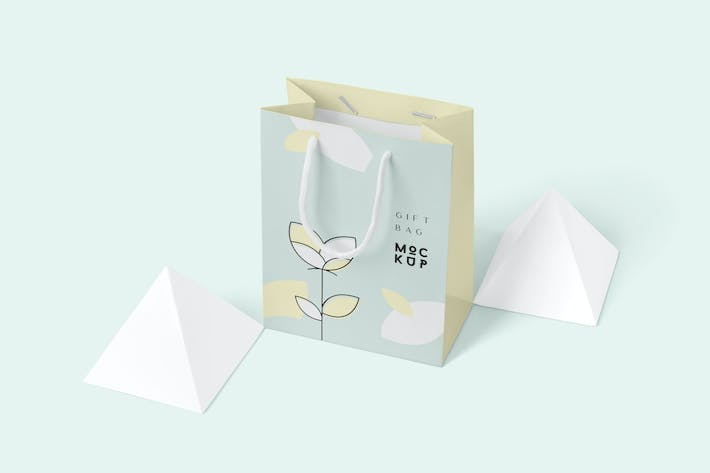 Thumbnail for Paper Gift Bag Mockups
