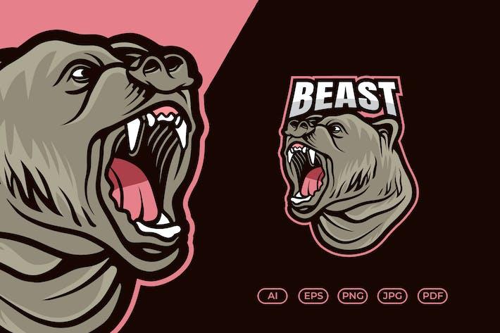 Thumbnail for Bear Mascot Esport Logo