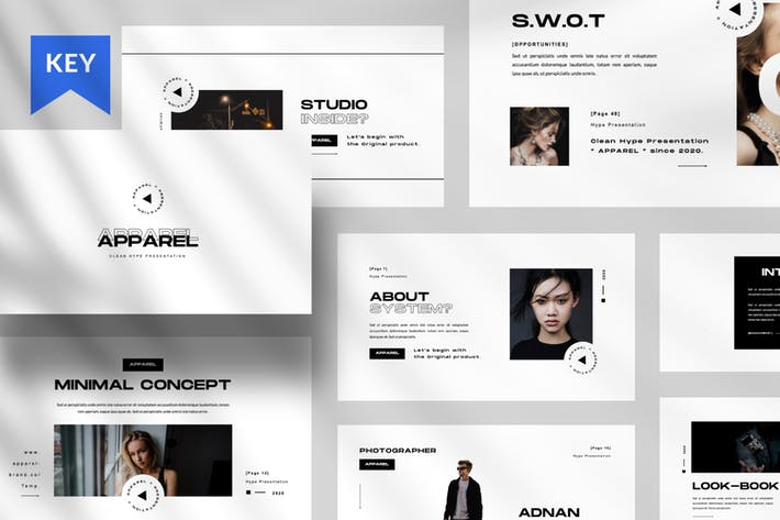 Cover Image For Apparel Keynote Presentation Template