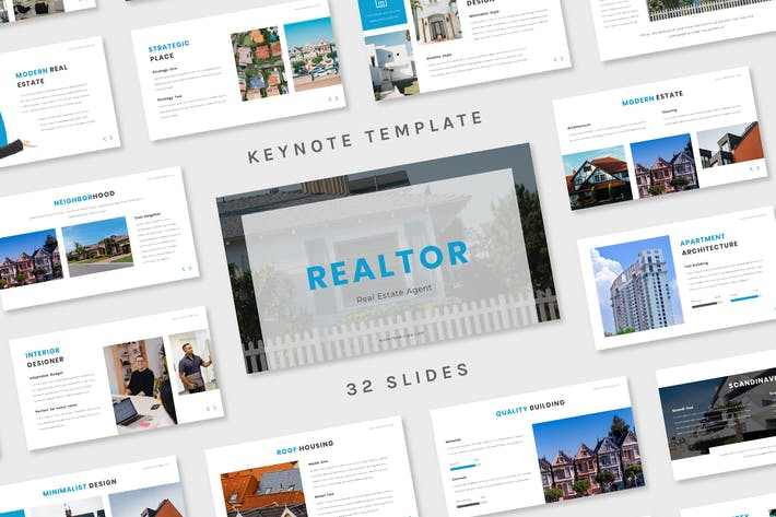 Thumbnail for Realtor - Keynote Template