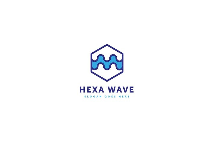 Cover Image For Hexa Wave Logo Template