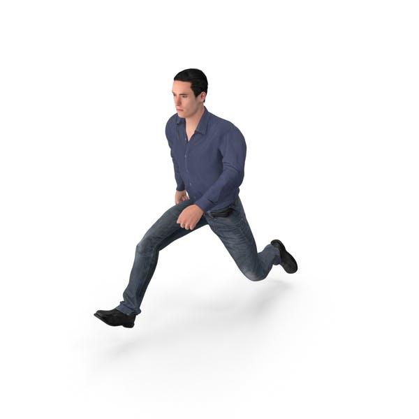 Thumbnail for Casual Man James Jumping