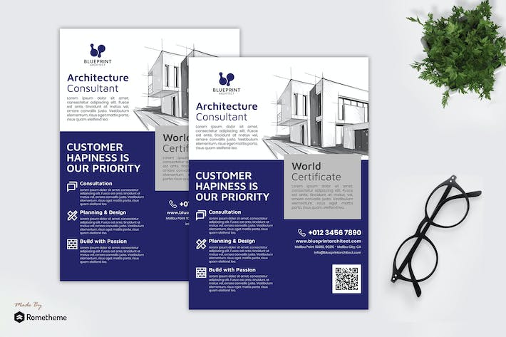 Thumbnail for Blueprint Architect - Business Flyer RB