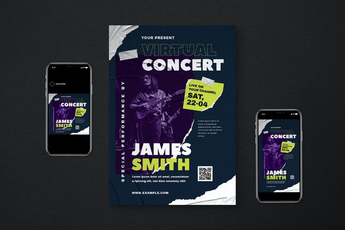 Virtual Concert Flyer Pack