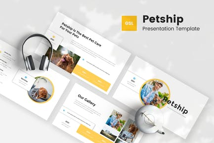 Petship - Pet Care & Veterinary Google Slides Temp