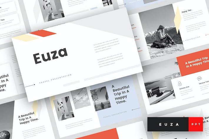 Thumbnail for Euza - Travel PowerPoint Template