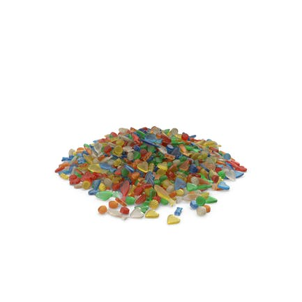 Großer Haufen gemischter Gummibärchen