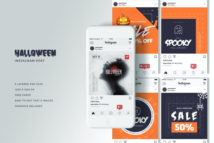 Thumbnail for Halloween Social Media Banners