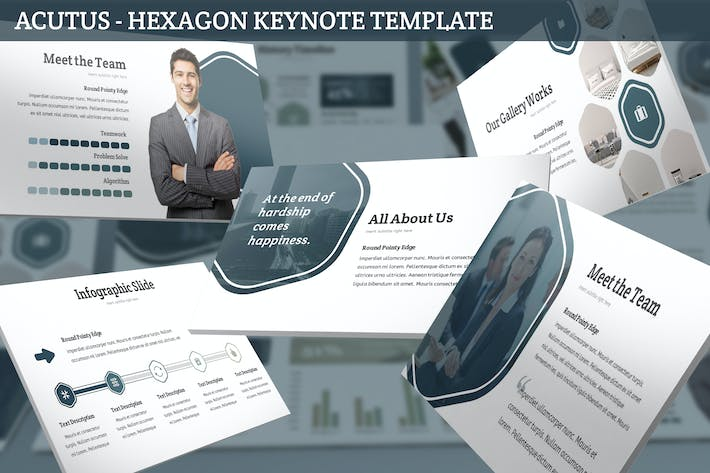 Thumbnail for Acutus - Hexagon Keynote Template