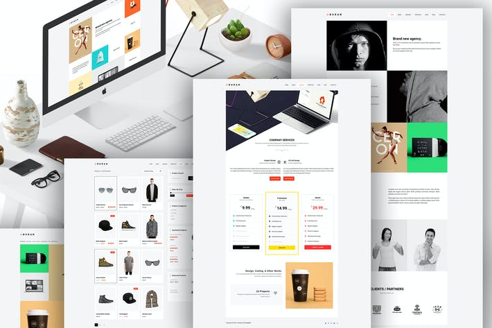 Thumbnail for BURAN - Creative Portfolio and Business WordPress