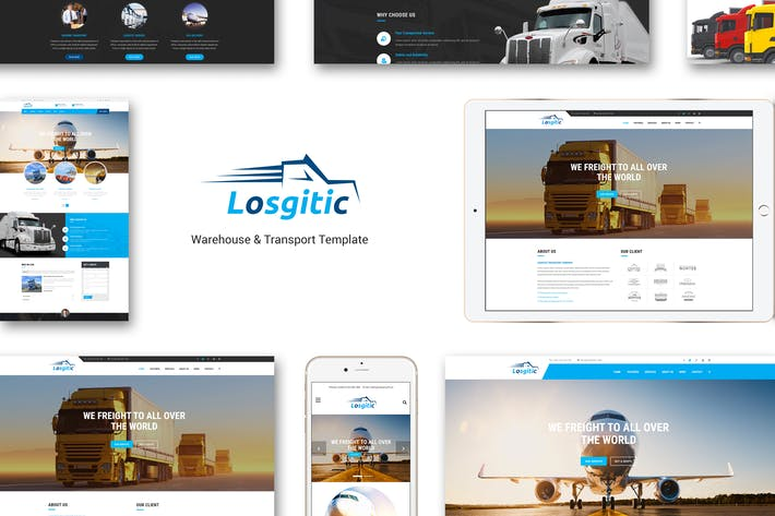 Thumbnail for Logistic - Warehouse & Transport PSD template