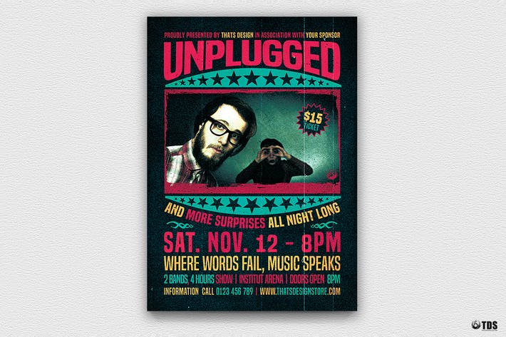Thumbnail for Concert Unplugged Flyer Template