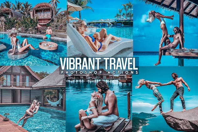 Vibrant Traveling Photoshop Actions