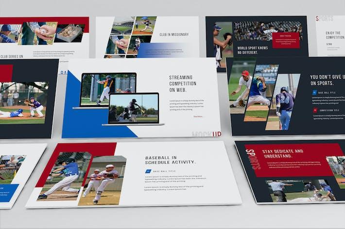 Шаблон презентации Keynote Baseballion