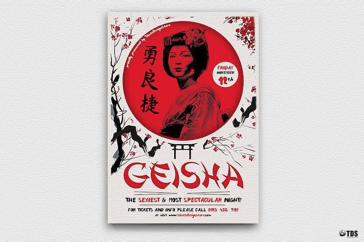Thumbnail for Geisha Night Flyer Template V4