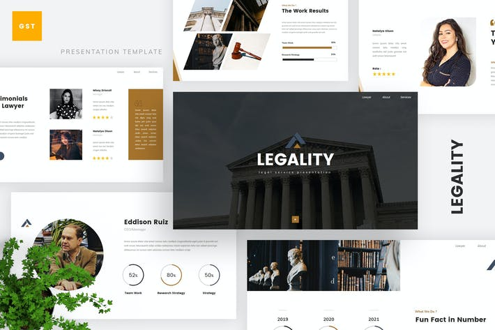 Thumbnail for Legal Service Google Slides Template