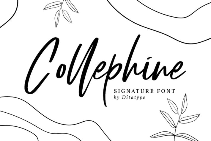 Thumbnail for Collephine-Beautiful Handwritten Font