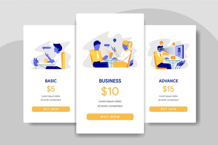 Thumbnail for Pricing Table Comparison with Office Illustration