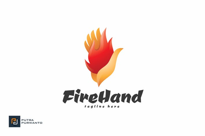 Thumbnail for Fire Hand - Logo Template
