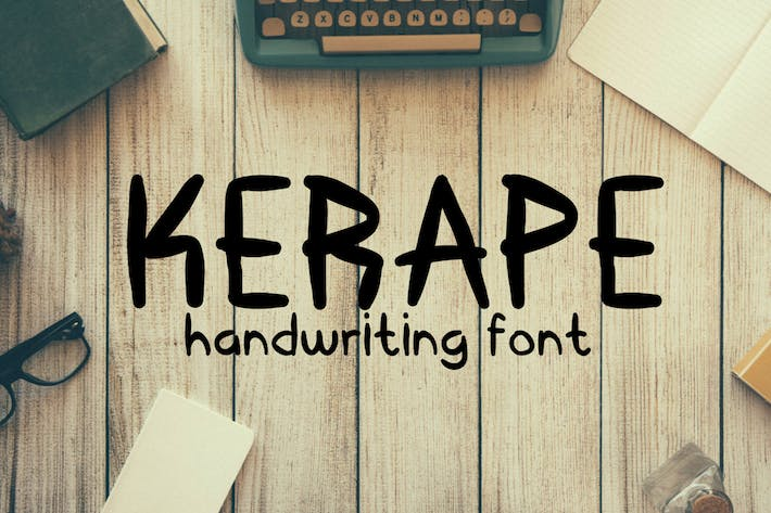 Thumbnail for Kerape Handwriting Font