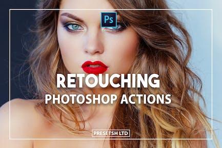 Ретушь действий Photoshop