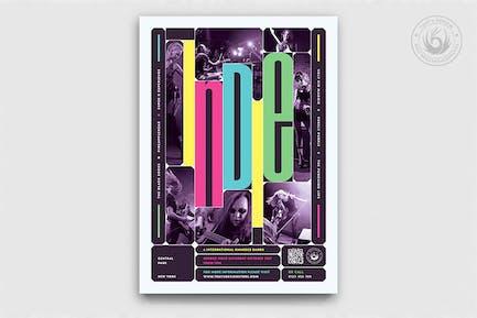 Indie Fest Flyer Template V10