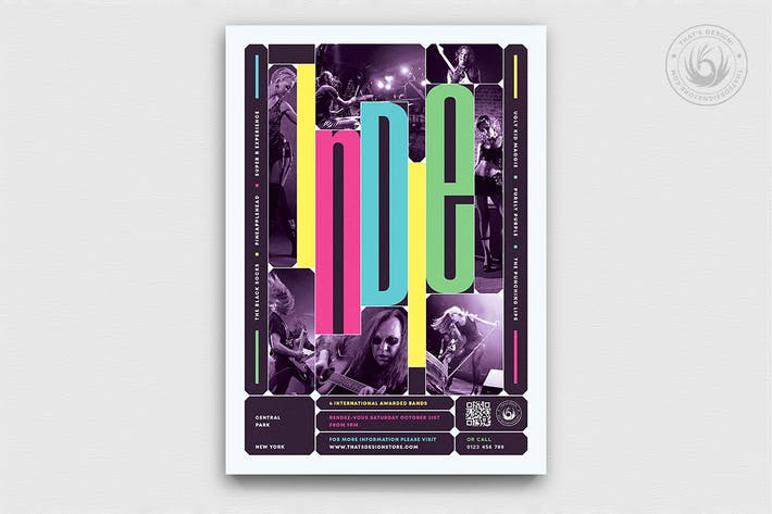 Thumbnail for Indie Fest Flyer Template V10