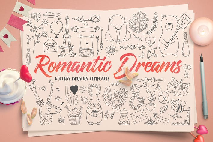 Thumbnail for Romantic Dreams Graphic Pack