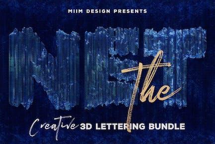 La red — Letras 3D