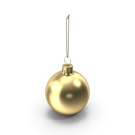 Рождественский шар Золотой глянцевый