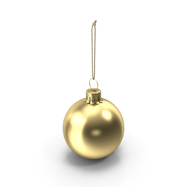 Thumbnail for Christmas Ball Gold Glossy