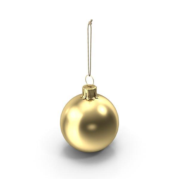 Christmas Ball Gold Glossy