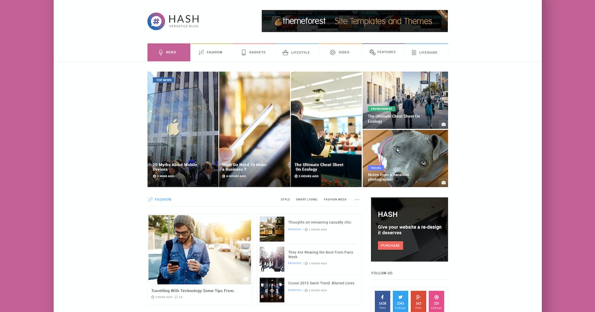 Download Hash - News & Magazine HTML Template by PremiumLayers