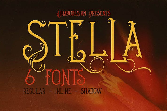 Thumbnail for Stella - Decorative Font