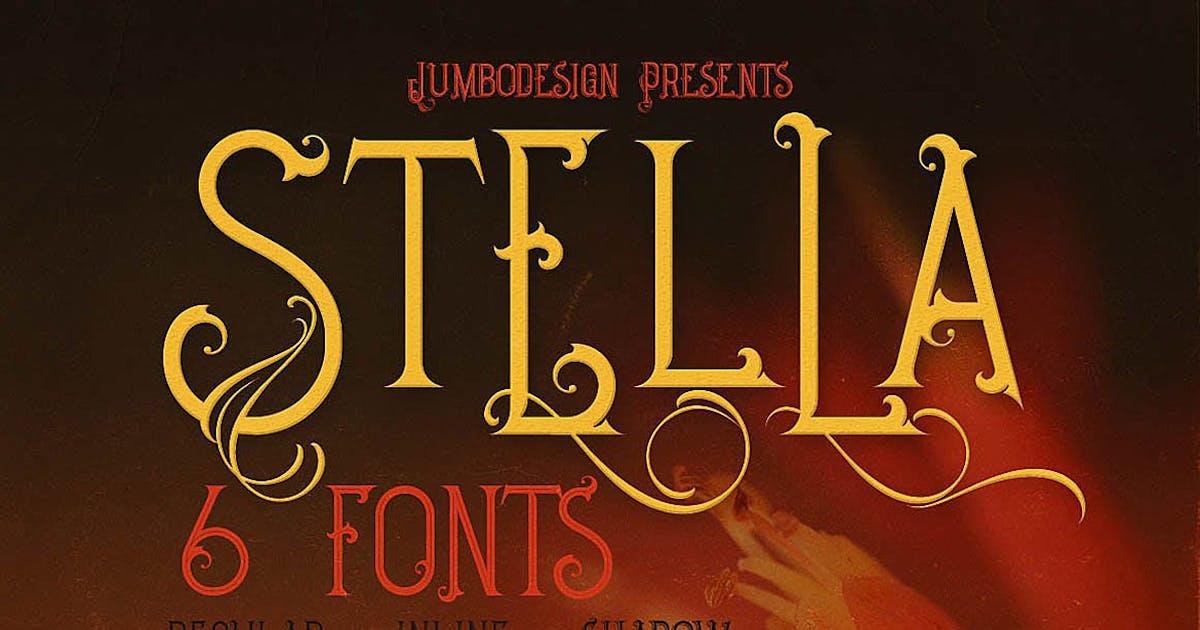 Download Stella - Decorative Font by cruzine