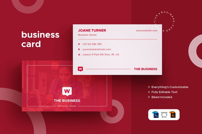 Thumbnail for Woman Business Card