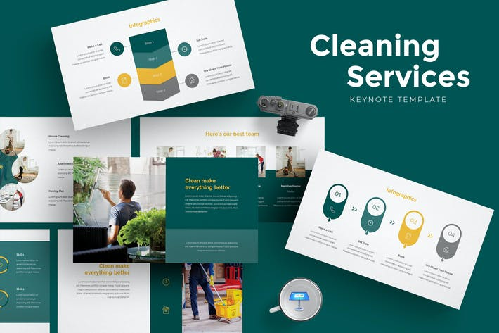 Thumbnail for Cleaning Services Keynote Template
