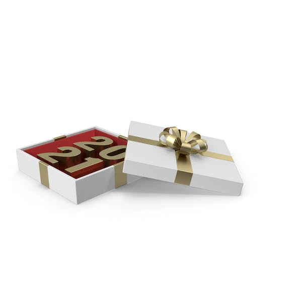 Thumbnail for Gold Symbol 2021 in White Gift Box with Gold Ribbon