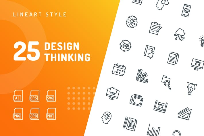 Cover Image For Design Thinking Line Icons