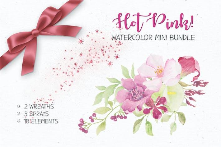 Thumbnail for Watercolor Mini Bundle in Hot Pink