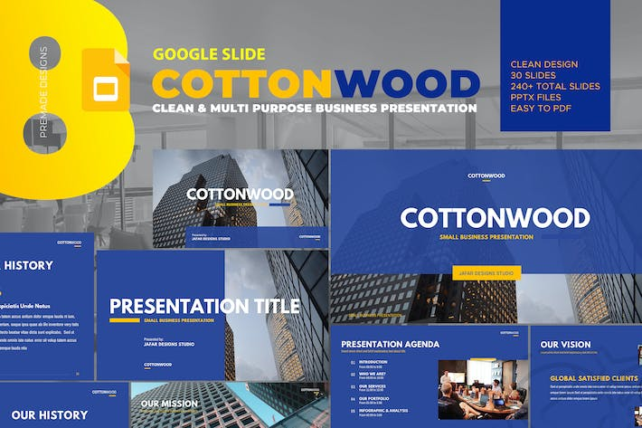 Thumbnail for CottonWood - Company Profile Google Slide