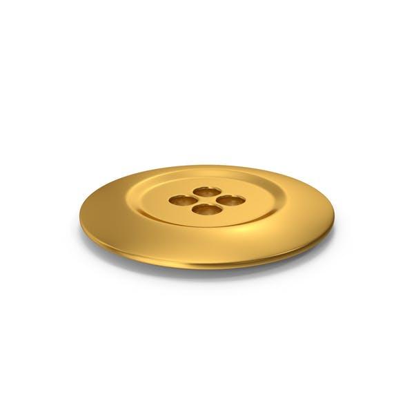 Stoff-Knopf Gold