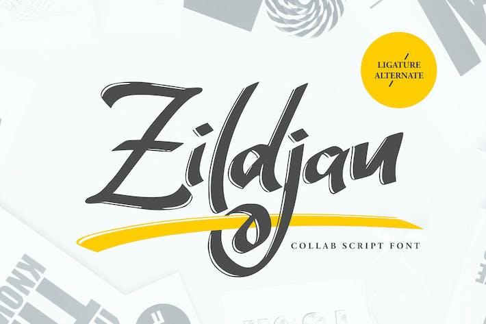 Thumbnail for Zildjan | Script Brush Font