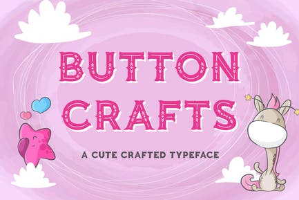 Button Crafts - Cute Crafted Typeface