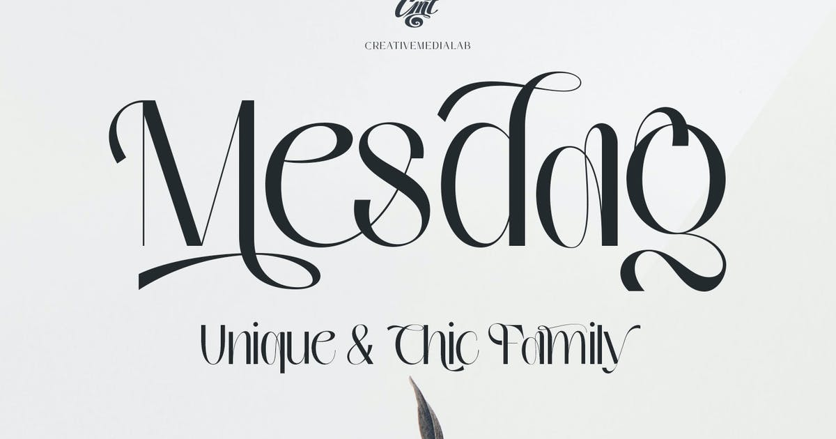 Download Mesdag Font by creativemedialab