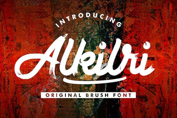 Thumbnail for Alkilri | Brush Script Font