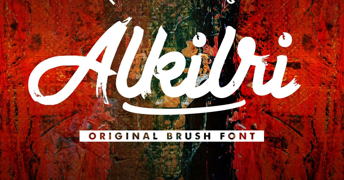Download Alkilri | Brush Script Font by gilang_senzana