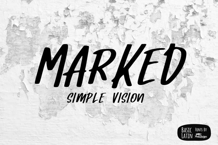 Thumbnail for Marked Font
