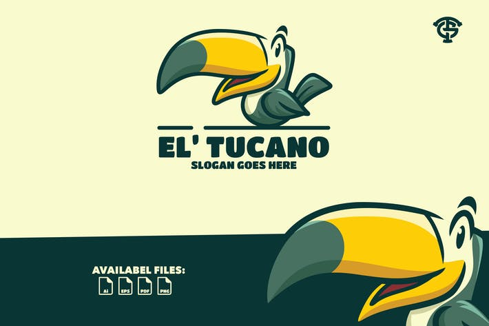 Thumbnail for Tucano Bird - Logo Mascot